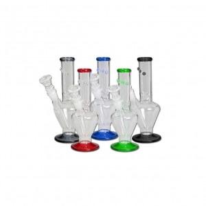 BLACK LEAF   MINI GLASS ICE BONG    BLACK
